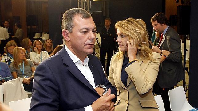José Luis Sanz y Dolores de Cospedal