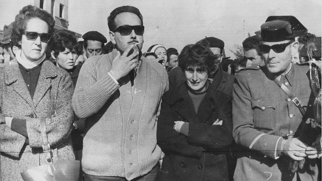 La duquesa de Medina Sidonia (segunda a la derecha) durante la marcha a Madrid desde Palomares