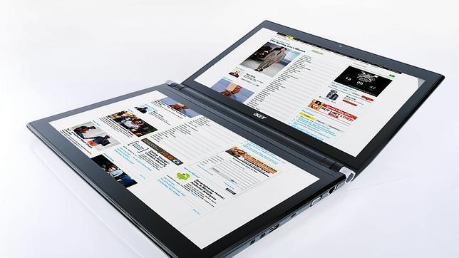 Un ordenador portatil
