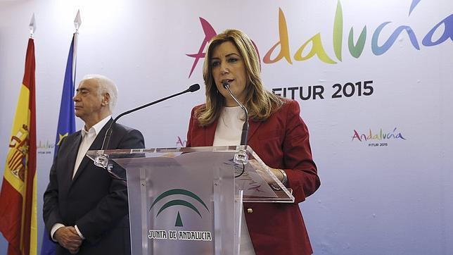 Susana Díaz, el pasado miércoles en Fitur