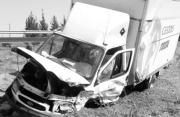 Estado en el que quedó el camión tras el accidente. EFE