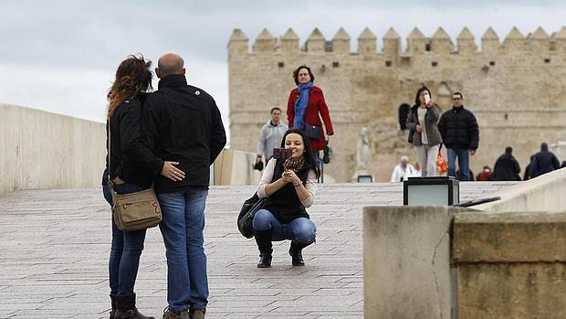 Turistas, ayer en Córdoba