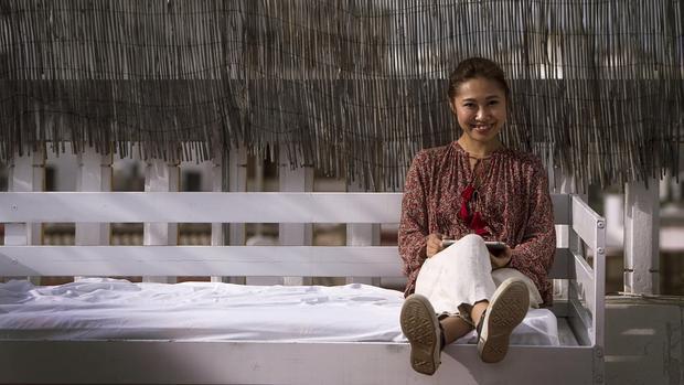 Sayuri Ishii, en el hotel de Córdoba en que se hospeda