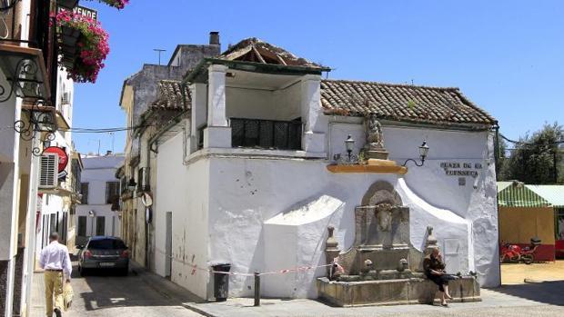Plaza del casco histórico en el que vivía la pareja