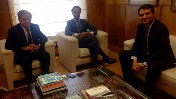 Reunión entre Fuentes, Bellido y Del Moral, en el Ministerio de Fomento