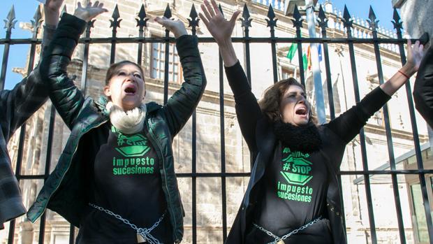 Manifestación de la plataforma SOS Impuesto de Sucesiones