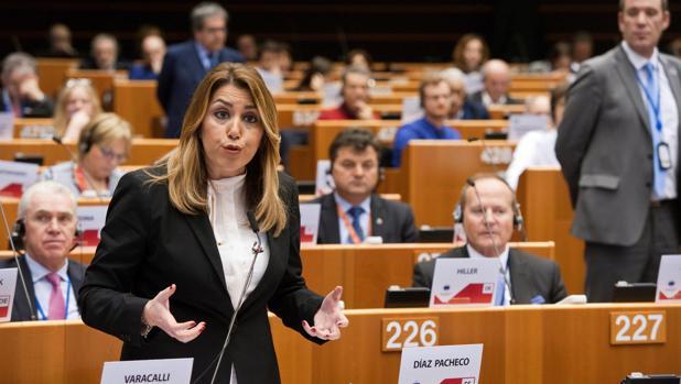 Susaba Díaz durante su intervención ante el pleno del Comité Europeo de las Regiones