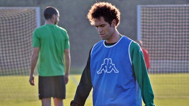Quim Araujo, este jueves, en el entrenamiento del Córdoba CF en Montecastillo