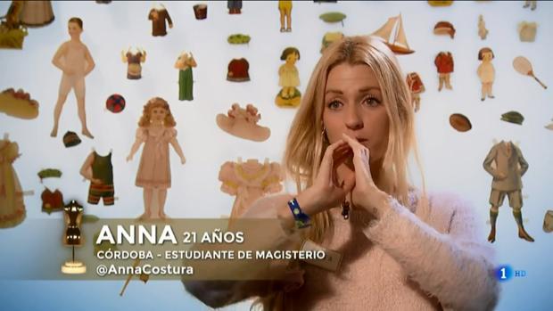 Anna, la cordobesa de «Maestros de la Costura»