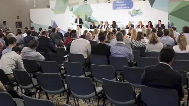 Imagen del Comité Ejecutuvo Autonómico que el PP andaluz celebró este viernes en Sevilla