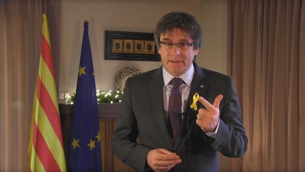 Carlos Puigdemont durante una conferencia