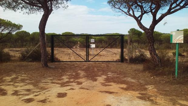 La Junta de Andalucía valló por su cuenta la finca El Asperillo, propiedad de las empresas Duna Playa, Construcciones Roquiconsa y Financiación Básica
