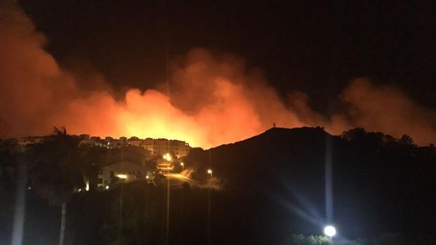 Incendio declarado este verano en Manilva