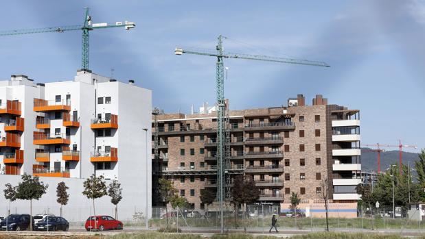 Edificios en construcción en la zona de Poniente