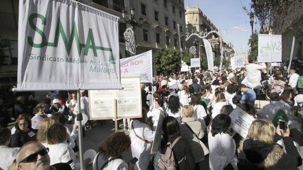 Manifestación de médicos en Sevilla el pasado martes