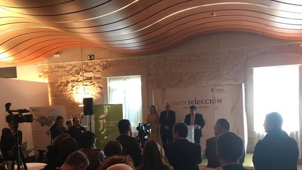 El presidente de la Diputación, Francisco Reyes, en el acto de Jaén Selección
