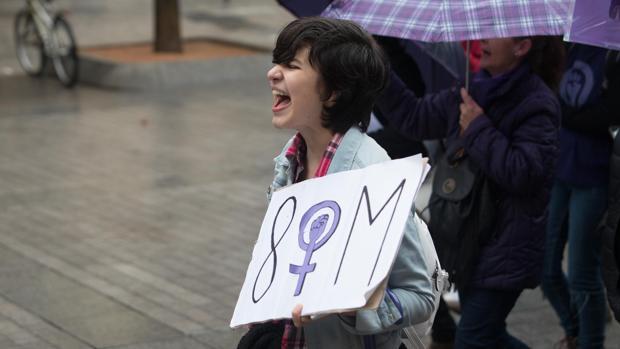 Una manifestante en las movilizaciones del último 8-M en Córdoba