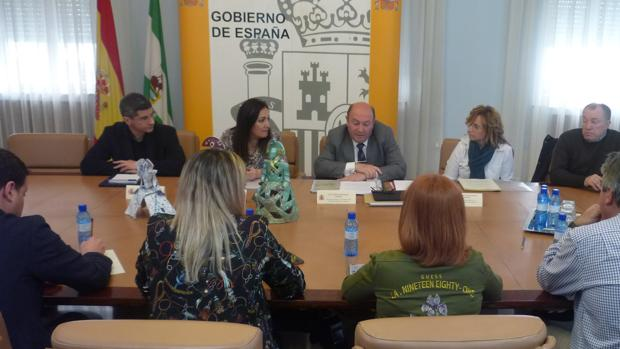 Reunión de la subdelegada del Gobierno con alcaldes de municipios que atraviesa la autovía