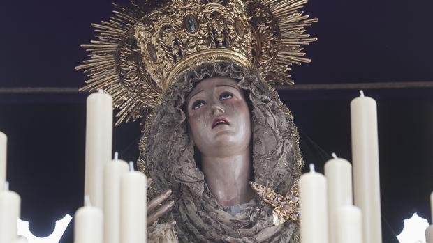 Nuestra Señora del Mayor Dolor, titular de la cofradía del Calvario de Córdoba, el Miércoles Santo