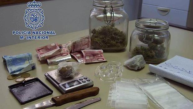 Droga incautada por la Policía Nacional en una imagen de archivo