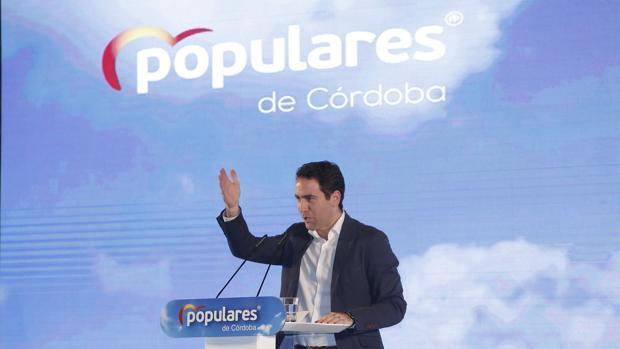 Teodoro García Egea, durante su intervención en Córdoba