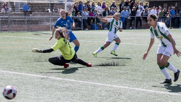 Uno de los goles ante el San Miguel