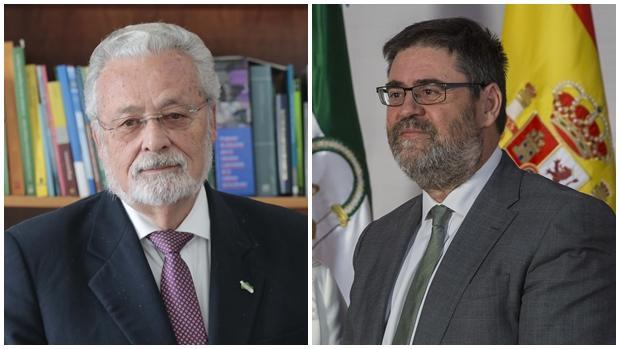 Jesús Maeztu, Defensor del Pueblo Andaluz, y Antonio López, presidente de la Cámara de Cuentas