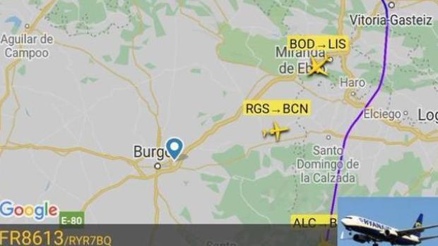 El vuelo tuvo que ser desviado a Santander