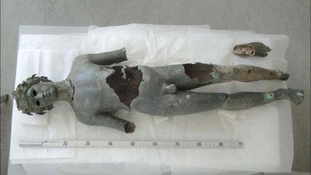 El Efebo Dionisíaco, el más pequeño de los dos encontrados en Pedro Abad