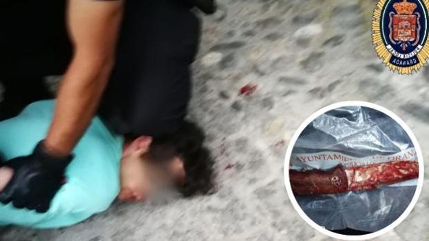 La Policía Local detuvo al agresor cuando trataba de huir.