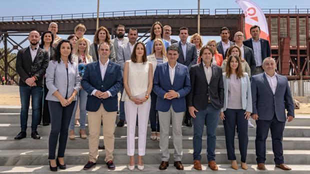 Los candidatos de Ciudadanos al Ayuntamiento de Almería, liderados por Miguel Cazorla.