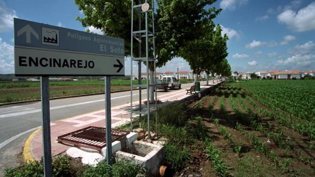 Entrada a la localidad de Encinarejo en Córdoba