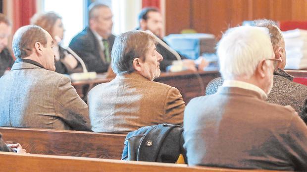 Juan Márquez, Francisco Javier Guerrero y Javier Aguado, tres de los cinco acusados en el caso Umax