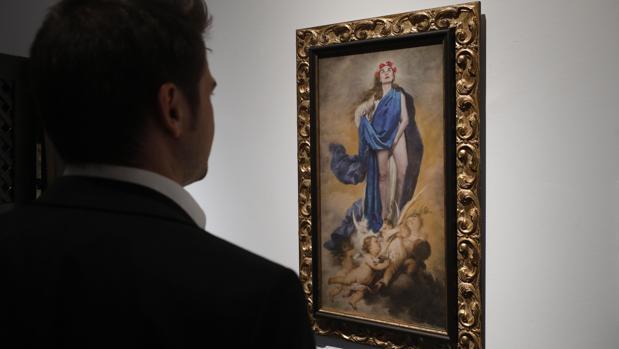 El cuadro de la polémica, expuesto en la Diputación de Córdoba