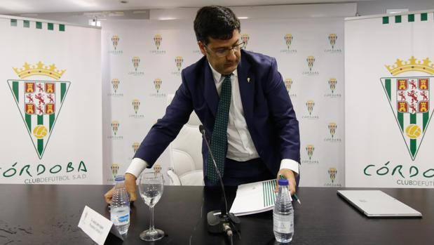 El presidente del Córdoba CF, Jesús León
