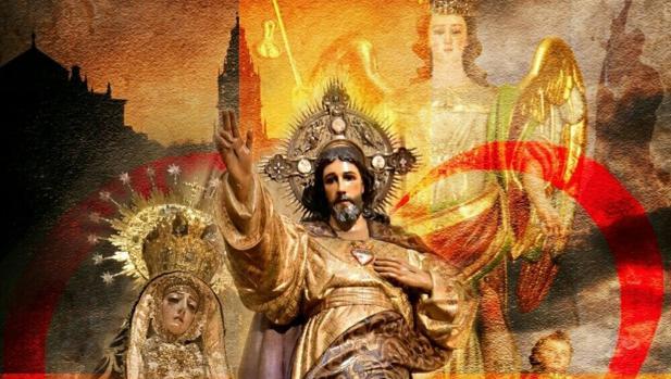 Detalle del cartel de la procesión extraordinaria del Sagrado Corazón de Jesús del 30 de junio