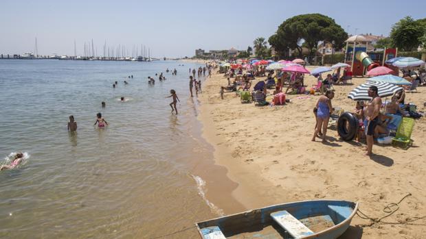 Playa de la ría de Punta Umbría,