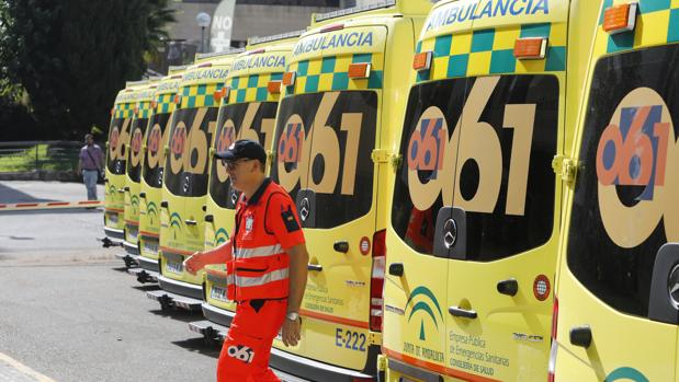 Ambulancias del 061 en Córdoba