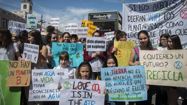 Protesta por el medio ambiente