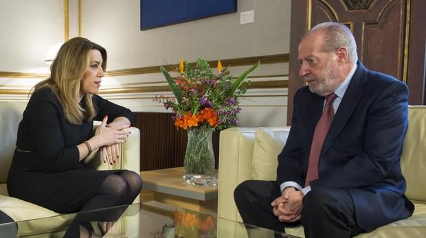 Susana Díaz con Fernando Rodríguez Villalobos