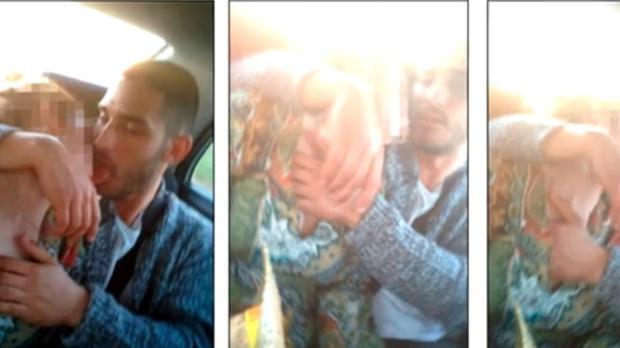 El exmilitar Alfonso Jesús Cabezuelo, en el vídeo grabado en el interior del coche conducido por Antonio Manuel Guerrero camino de Torrecampo a Pozoblanco