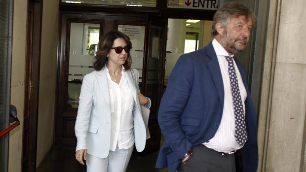 Anna Valls, directora financiera de la Faffe, este miércoles en el juzgado de Sevilla