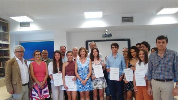 Los dieciséis alumnos galardonados de toda la provincia de Córdoba