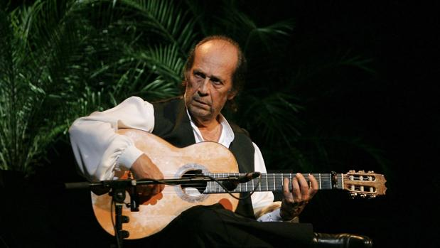 Paco de Lucía, en su última actuación en Córdoba, en el Festival de la Guitarra de 2010