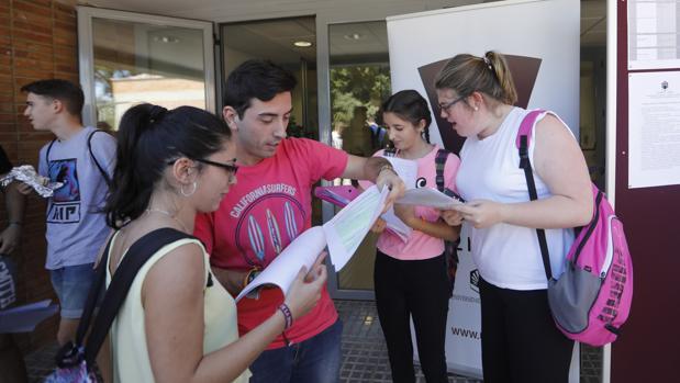 Pruebas de Selectividad de este año celebradas en la Facultad de Medicina de Córdoba