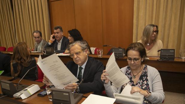 El concejal de Urbanismo y Hacienda, Salvador Fuentes, durante un Pleno del Ayuntamiento de Córdoba