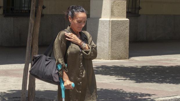María Núñez Bolaños, tras su reincorporación al juzgado