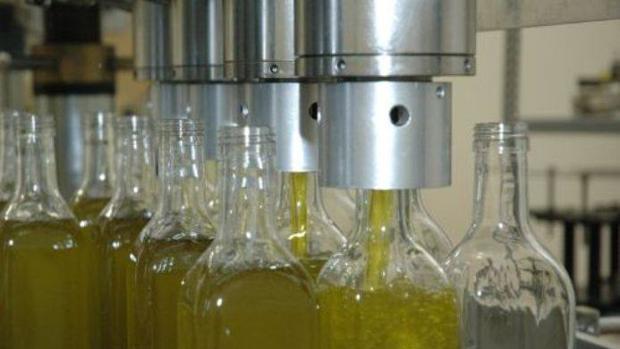 Proceso de embotellado de aceite de oliva virgen extra