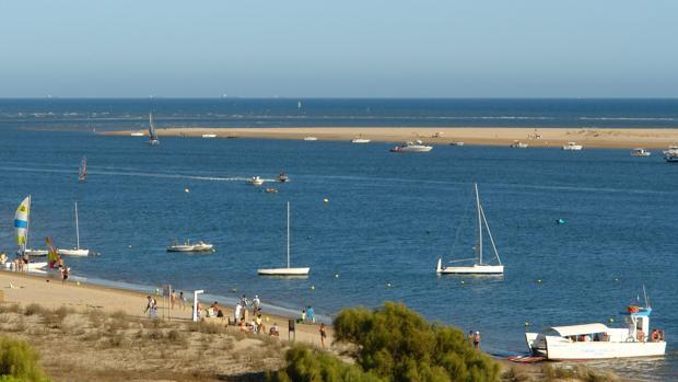Vista de la Flecha o Nueva Umbría de Huelva