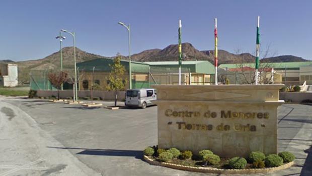 Entrada al Centro de Menores Tierras de Oria.